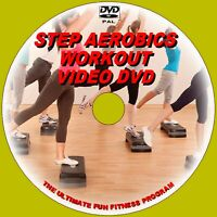 STEP AEROBICS HIGH ENERGY CARDIO FITNESS FAT BURNING EXERCISE DAILY WORKOUT DVD