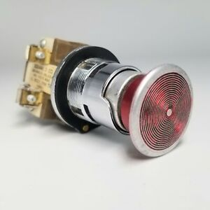 Square D 9001 Type T Red Push-Button Switch