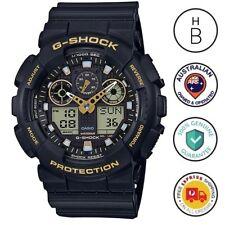 New Casio G-Shock Special Colour Watch Black & Gold Trim Ana Digi GA-100GBX-1A9