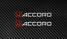 Honda ACCORD Decal Sticker i-vtec RED/WHITE jdm turbo lowered dohc sohc (2 PACK)