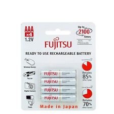 4 PILES ACCU FUJITSU RECHARGEABLE AAA LR03 1.2V 750mAh Ni-Mh BATTERY BATTERIE