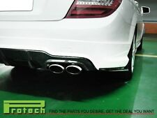 Rear Carbon Fiber Splitter Lip for 12-14 C-Class 2Dr/4Dr  AMG Rear Bumper Only