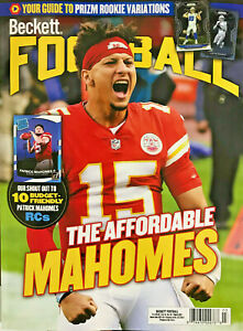 New March 2021 Beckett Football Card Price Guide Magazine With Patrick Mahomes