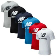 New Balance Mens Essentials Stacked Big Logo T-Shirt NB Sports Gym Training Top