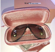 Miu Miu Sunglasses Gold Designer Genuine Women Grey Diamond 0MU 67US ZVN5O0