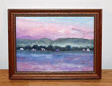 LANDSCHAFT Original Acrylbild im alten Holzrahmen signiert - Gemälde Bild