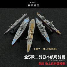 JAPAN 5pc Warship  Battleship Aircraft Carrier Destroyer Cruiser Figure Toys