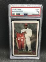 2003 Topps Lebron James Rookie Card #221 Psa 7 NM