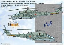 Standard Soviet 1980s Camo + Soviet Stars for Mi-24 Attack Helicopter 1/48