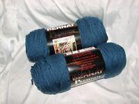 2 Skein Lot Bernat Premium Blue Jeans Yarn #4 Weight Crochet Knit 7 Ounces Each