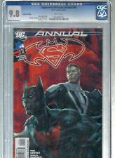 DC SUPERMAN/BATMAN ANNUAL #4 CGC 9.8 -LOW POP. 2ND PRINT- ARTGERM 1ST BEYOND DCU