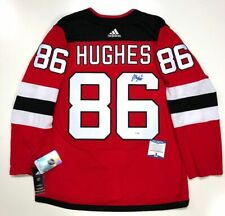 JACK HUGHES SIGNED NEW JERSEY DEVILS ADIDAS AUTHENTIC JERSEY BECKETT COA H99640