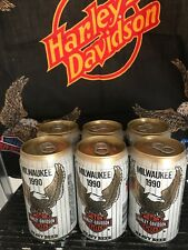 Sturgis 50th Anniversary Harley Davidson Motorcycle Beer Can 1990 Bottom Opened