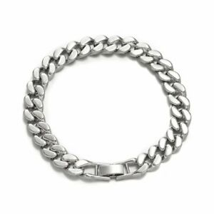 Punk 10/13MM Silver Curb Cuban Link Chain Necklace Mens Necklace Jewelry Gift