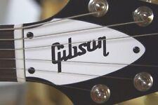FLYING V TRUSS ROD COVER name plate for Gibson guitar (White / Black)
