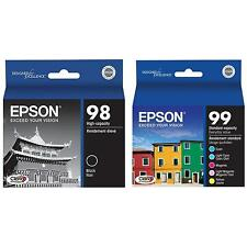 6-PACK Epson GENUINE 98 Black & 99 Color Ink  ARTISAN 835 837 NO BOX