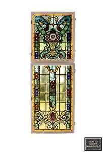 Antike Bleiverglasung, Glasmalerei, Jugendstil, Art Nouveau, Stained Glass
