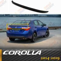 For 2014-2019 Toyota Corolla OE Style Rear Trunk Wing Spoiler Primed GLOSS BLACK