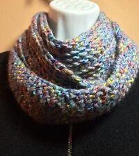 NEW! Crocheted Soft Mobius Infinity Scarf~2.5x72~Isaac Mizrahi Barnard Univ Yarn