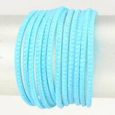Celeb Statement Aqua Silver Faux Suede Stud Wrap Bracelet By Rocks Boutique