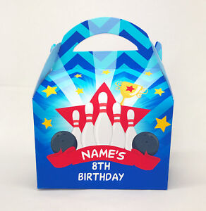 Bowling Party Personalised Children Party Boxes Gift Favour Kids bag treat