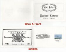 1987 GERMANY Collectors Card Cover LAUENAU POST OFFICE 150th ANNIVERSARY SG2187
