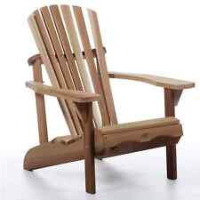 Western Red Cedar Adirondack Chair Thick Arm Rests Contoured Seat Comfortable