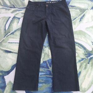 Burberry Brit Steadman Straight Dark Charcoal Gray Jeans 35 x 30