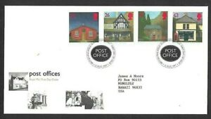 Great Britain Scott 1767-1770, 1997 issue, British Post Offices, FDC F-VF