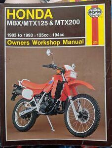 Honda MBX125 / MTX125 / MTX200 Haynes Owners Workshop Manual