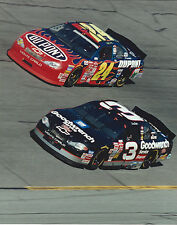 DALE EARNHARDT SR. & JEFF GORDON CAR 8 X 10 PHOTO WITH ULTRA PRO TOPLOADER