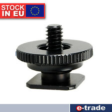 "F&V 1/4"" - Nut Tripod Mount Screw to Flash Camera Hot Shoe Adapter /AS2"