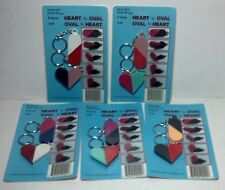 """Pair of """"Heart to oval"""" plastic key chain in pack  - 5 packs (10 pieces)"""
