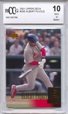 2001 Upper Deck #295 Albert Pujols Cardinals Rookie Card BGS BCCG 10 MINT