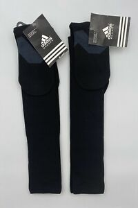 adidas Metro IV Soccer Socks 1 Pair Black Kids Youth Unisex Training 2 Pair Lot