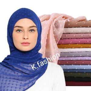 New Luxury POM POM Chiffon Long Maxi Style Scarf Hijab Neck scarf Headwrap Shawl