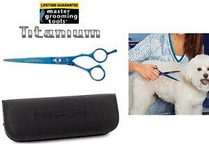"Master Grooming PRO TITANIUM 440C STEEL 6.5"" STRAIGHT SHEAR SCISSOR Pet GROOMING"