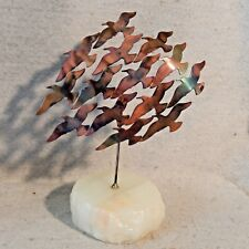 Vintage Original Al SPEERT Brutalist Metal Art Sculpture Flock Birds SEAGULL Pop