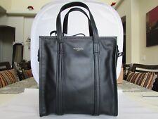 BALENCIAGA BAZAR SHOPPER 443096 SMALL BLACK LEATHER TOTE BAG 062827-28