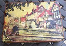 Vintage Cookie Biscuit Tin Canister Storage Box  Westgate Warwick England Scene