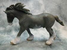 CollectA NIP * Clydesdale Stallion - Sabino Black Roan * 88620 Toy Model Horse