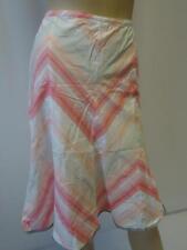 Donna NEXT Bianco/Color pesca/Rosa A righe Lunghezza Al Ginocchio 100%