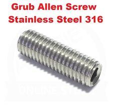 Socket Set Screw M8 M16 Metric Coarse Grub Allen Stainless Steel G316