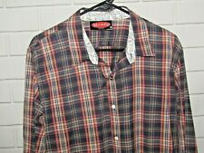 Mambo Of Australia Men's Size L Long Sleeve Button Front Shirt