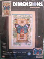 "Dimensions Needlepoint Kit NIP ""Butterfly On Scroll"" 10"" x 16"""