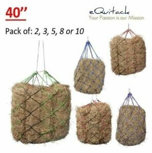40'' Strong Haynets Small Hole Haylage Little Small Mesh Hay Net Pack 2 - 10