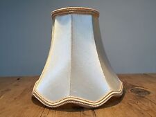 """VINTAGE CHAMPAGNE/LT YELLOW FABRIC UNLINED LAMPSHADE 4"""" X 8"""" X 7"""""""