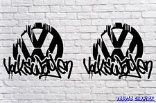 """Volkswagen 20"""" Extra Large VW Decal Stickers X2 Transporter T6 T4 T5 Camper DUB"""