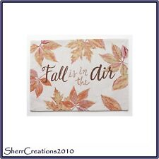 NWT 4 x Harvest Season Table Placemats Leaves Fall is in the Air #171014-557
