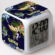 Hot Pokemon Anime Alarm Clock 7 Color Change LED Digital Children Bedroom #10 UP